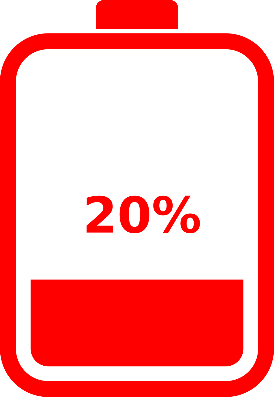 Low Battery Recharge Charging Free Vector Graphic On Pixabay