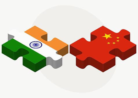 フラグ, インド, 中国, 競合, 業界, 政治, 業務, 取引, ユナイテッド