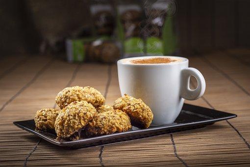 Coffee, Cookies, Oatmeal Cookies