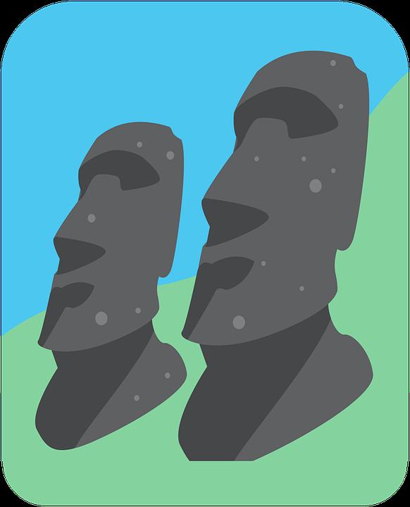 イースター島, モアイ, アイコン, モノリシック, チリ, 岩層, 彫刻, トラベル, ランドマーク, 有名