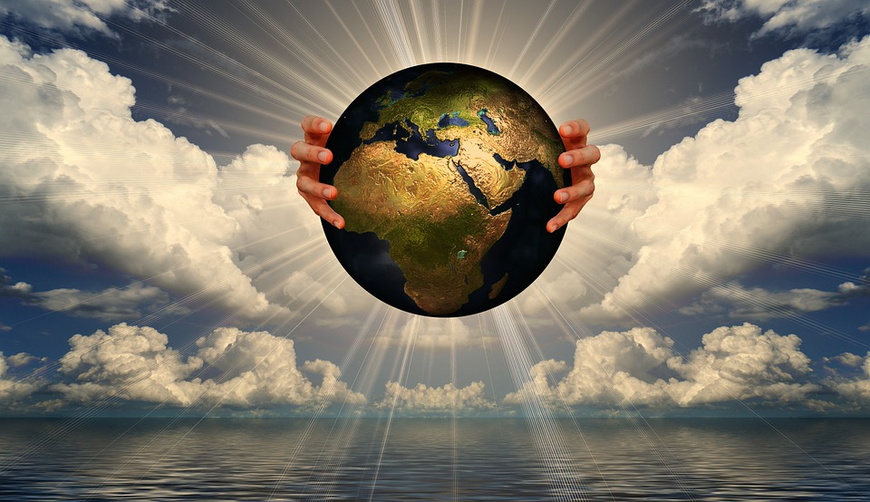 Earth, World, Sea, Ocean, Water, Cloudy Sky, Sunbeam