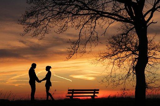Couple, Romantic, Silhouette, Love