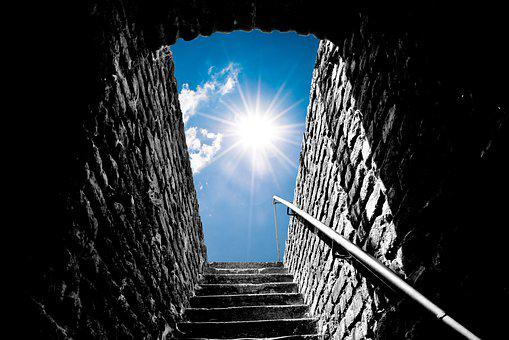 Tunnel, Stairs, Sunlight, Stairway