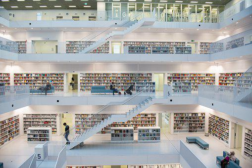 Library, Architecture, Books, Interior
