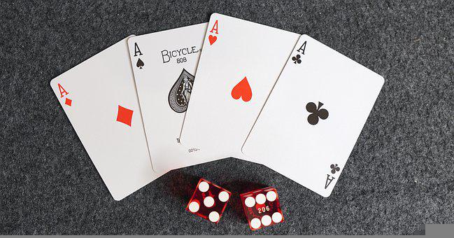 Aces, Cards, Dice, Four Aces, Card Game