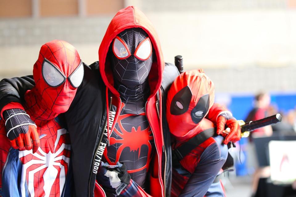 Cosplay, Spiderman, Deadpool, Marvel, Costume