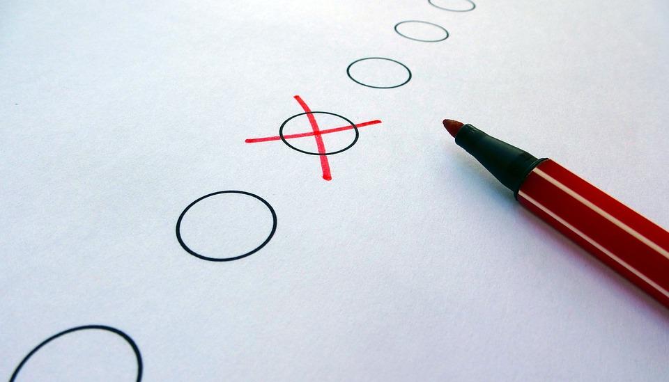 Cross, X Mark, Red Pen, Circles, Idea, Concept, Choice
