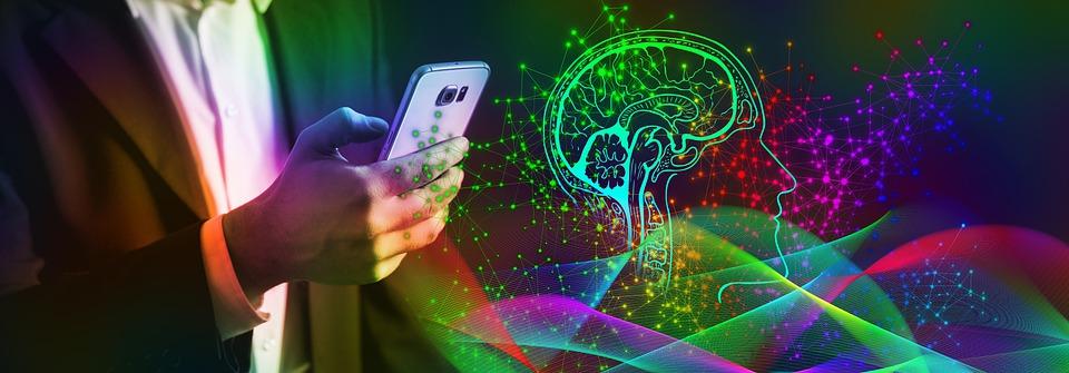 Smartphone, Mozek, Ovládání, Umělá Inteligence, Vlny