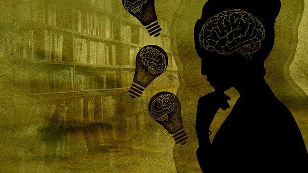 Kvinde, Hjerne, Pære, Sind, Bøger