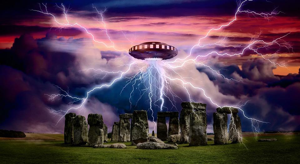 Alien, Ufo, Spaceship, Stonehenge, Monument, Fantasy