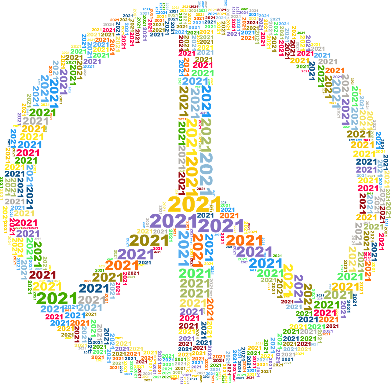 Peace 2021 Sign - Free vector graphic on Pixabay