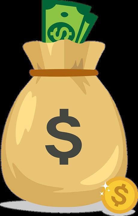 Money, Dollars, Sack, Bag, Icon, Bag Of Money