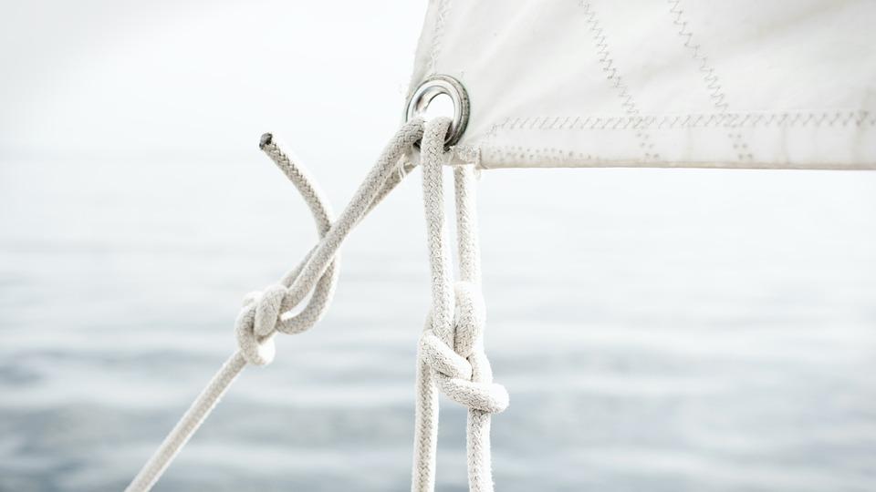 帆, セーリング, ロープ, ネクタイ, ノット, リギング, 索具, 詳細を見る, 結ばれたロープ