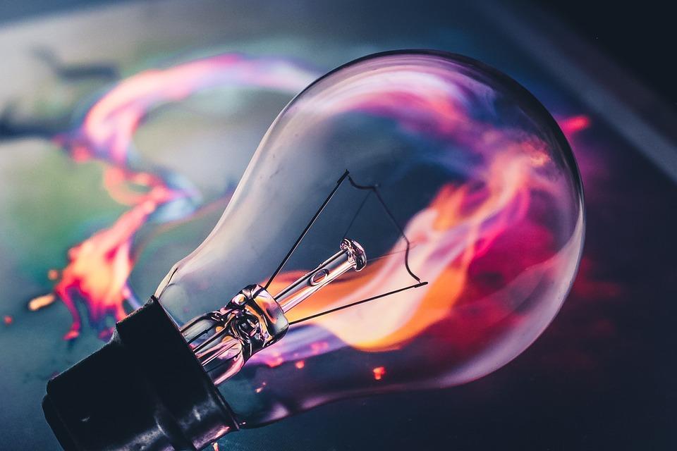 Lampadina, Idea, Fuoco, Fiamma, Al Neon, Creativo