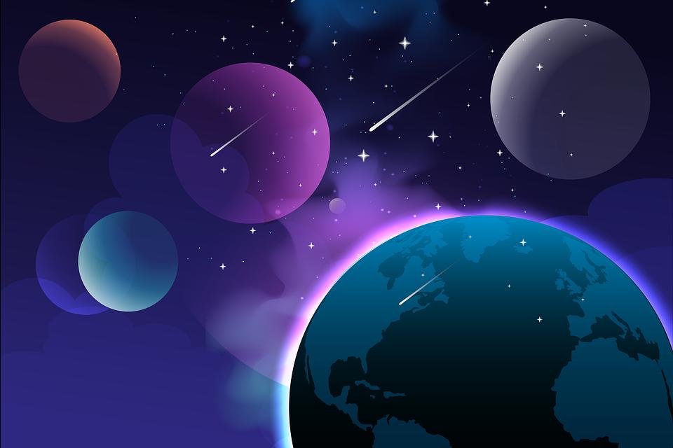 星, 惑星, 銀河, コスモス, スペース, 流れ星, 彗星, 地球, 宇宙, 空間芸術, 天文学