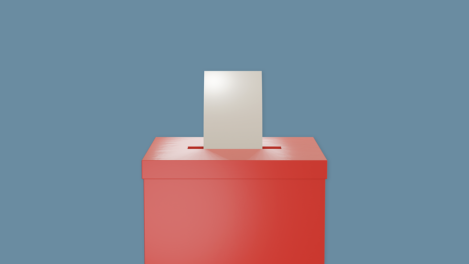 Stimmzettel, Box, Abstimmung, Wahlurne, Icon