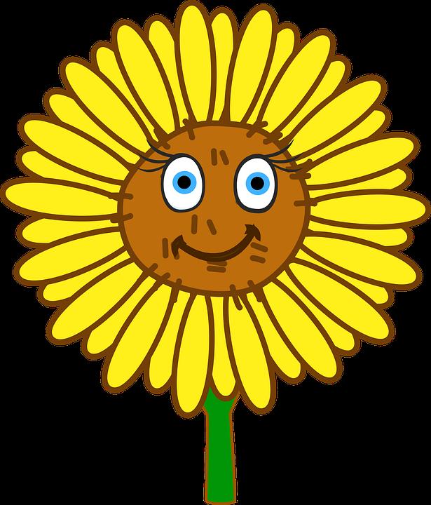 Bunga Matahari Wajah Kartun Gambar Gratis Di Pixabay