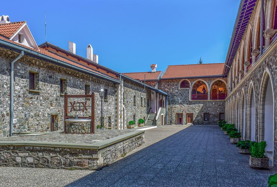 Church, Monastery, Building, Architecture, Archs