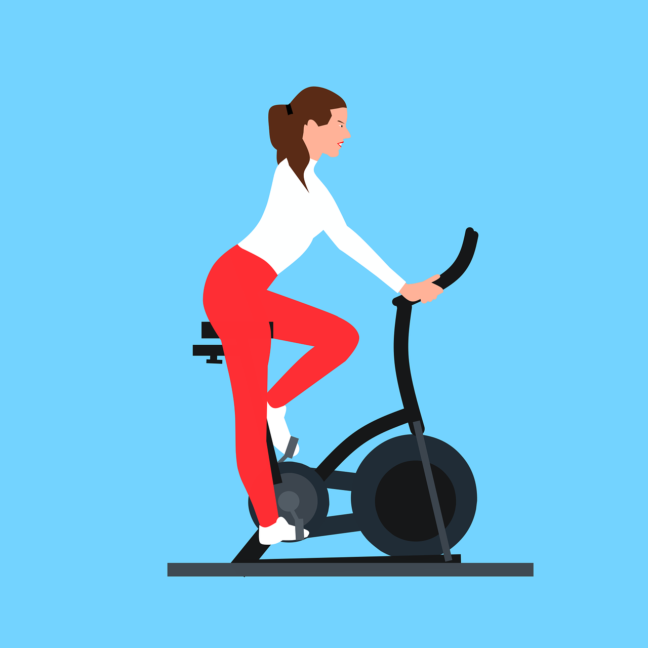 Woman Exercise Bike - Free vector graphic on Pixabay