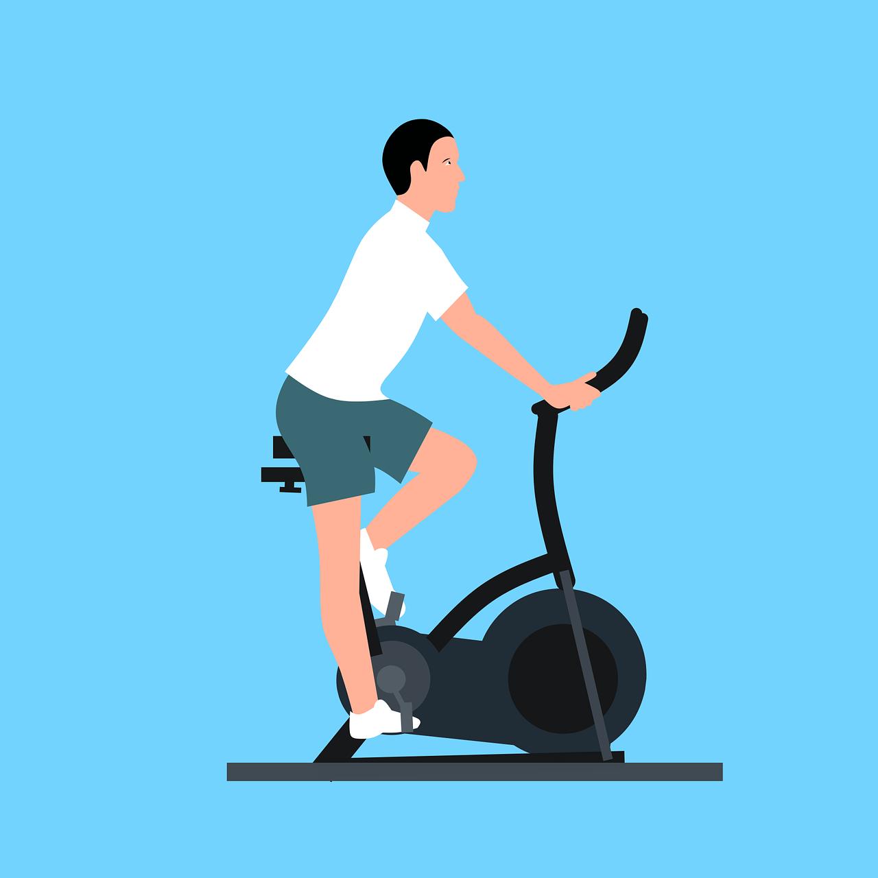 Pria Latihan Sepeda - Gambar vektor gratis di Pixabay