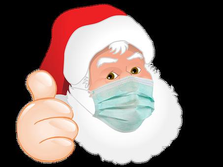 Santa Claus, Facemask, Thumbs Up, Santa