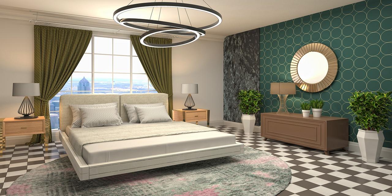 Interior Design Bedroom 3D Mockup - Free image on Pixabay