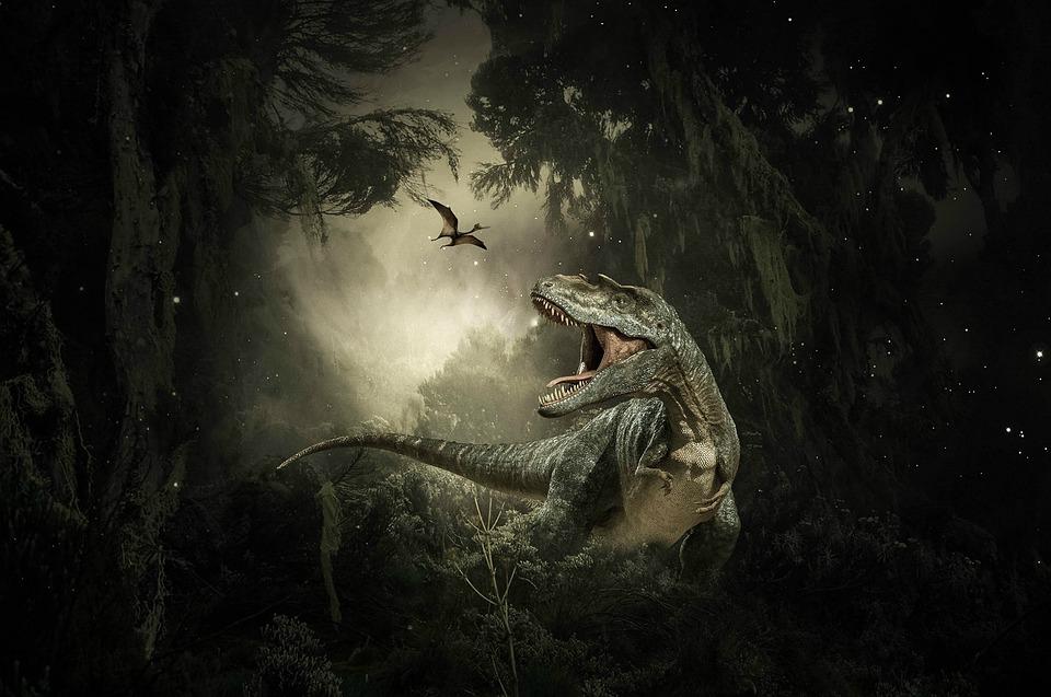 Dinosauři, T-Rex, Pterodaktyla, Prehistorický, Stromy