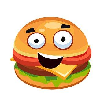 Hamburger, Burger, Uśmiech, Fast Food