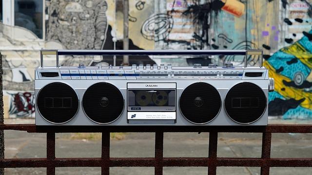 Ghetto Blaster Boombox Music Radio
