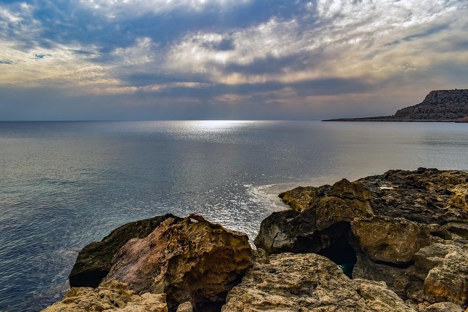 Cliff, Coast, Sea, Ocean, Water, Horizon, Rocks