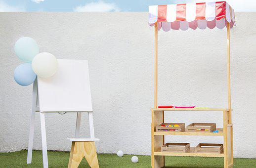 Easel, Stall, Kids, Party, Canvas, Stand