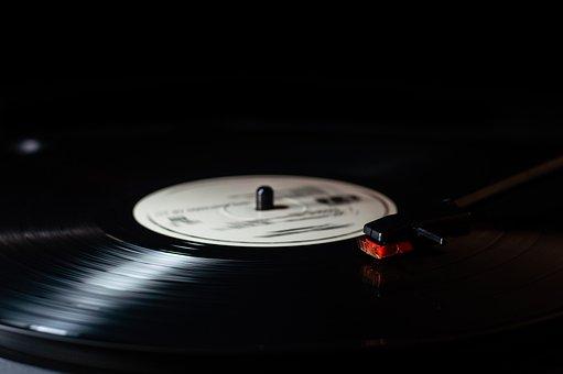 音楽, 記録, ビニル, レトロ, ディスク, オーディオ, 再生, 古典的な