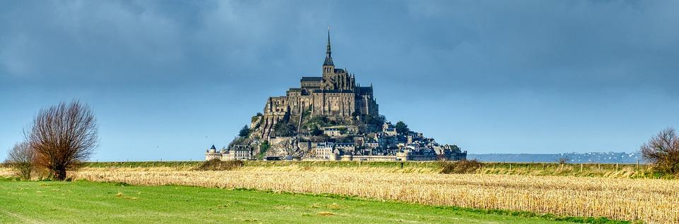 Church, Monastery, Monument, Island, Mont Saint Michel