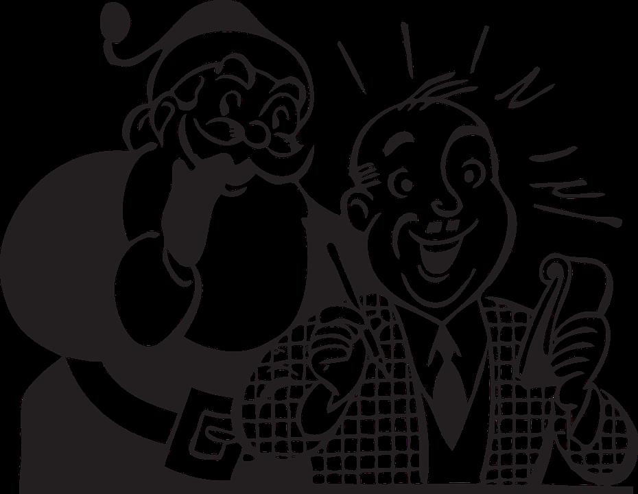 Santa Claus Man Christmas Writing Free Vector Graphic On Pixabay