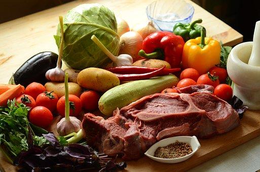 Hortalizas, Carne, Ingredientes