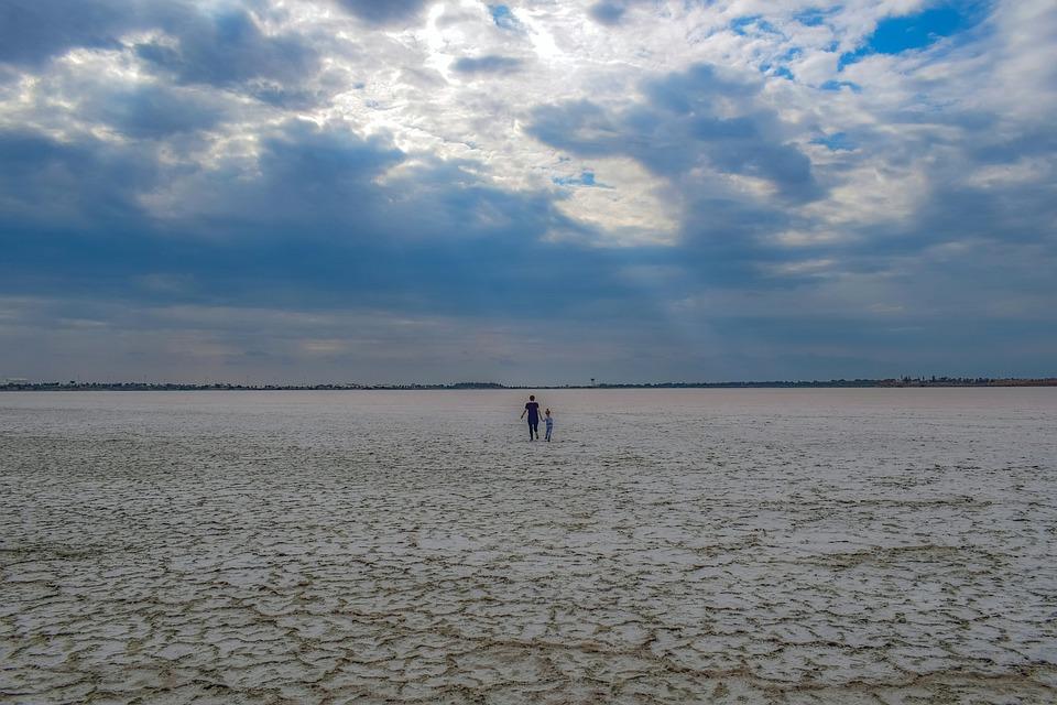 Salt Pan, Land, Tourists, People, Salt Flat, Landscape