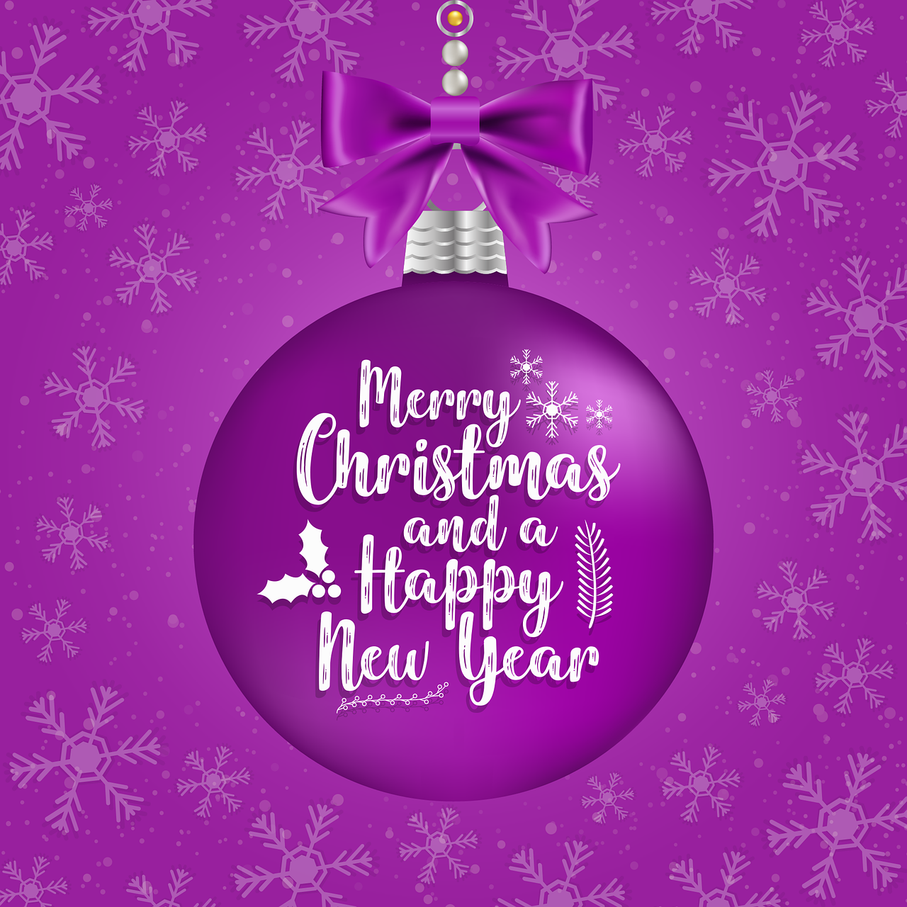 Download Merry Christmas And Happy New Year Card