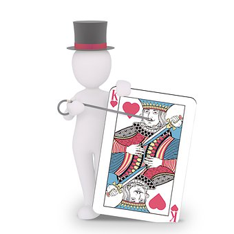 Magician, Card, Gamble, Poker, Play, Map