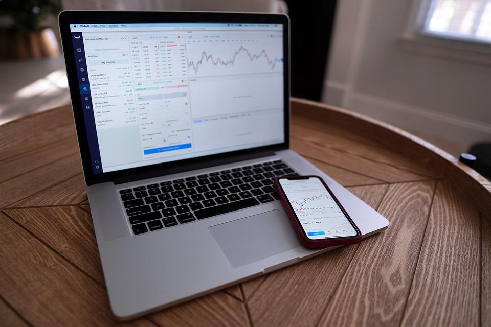 ファイナンス, 株取引, デイトレード, コンピューター, ウォール街, 投資家, お金, 富, リッチ