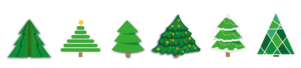 Christmas Banner Trees - Free image on Pixabay