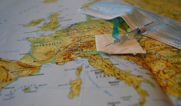 Vaksin, Peta Dunia, Europe, Jarum Suntik