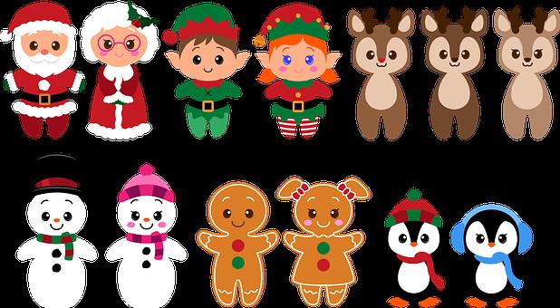 Christmas, Characters, Cartoon