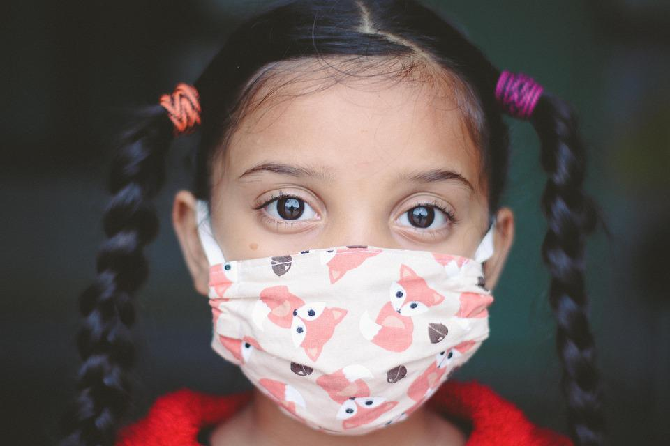女の子, 子, 顔のマスク, Covid, 子ども, 若いです, Covid-19, Coronavirus