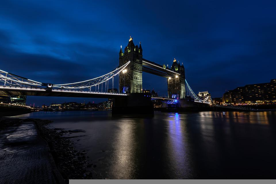 Tower Bridge, London, England, Bridge, Tower, Landmark