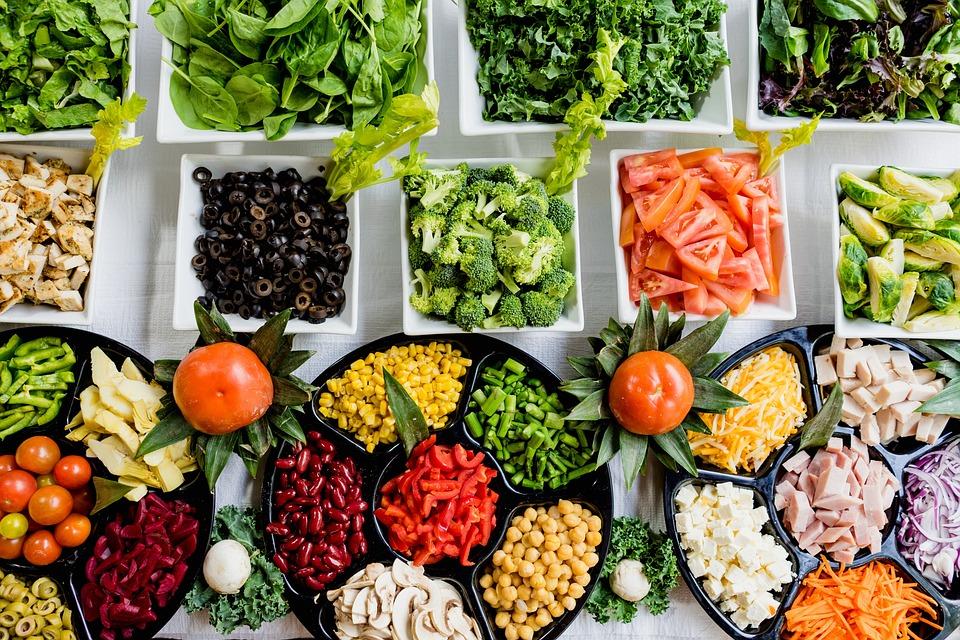 Fresh, Vegetables, Buffet, Assorted