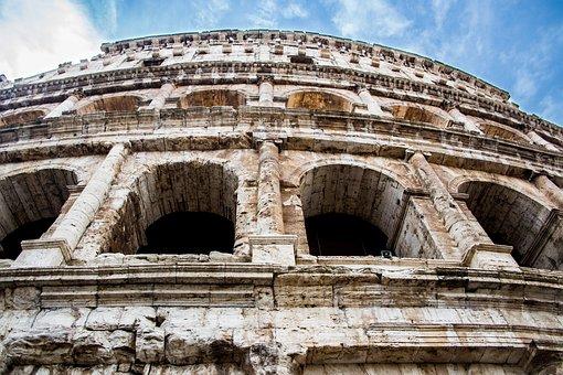 Colosseum, Amphitheatre, Monument, Ruins