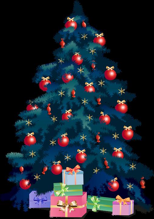 Weihnachtsbaum, Geschenke, Weihnachten, Ornamente