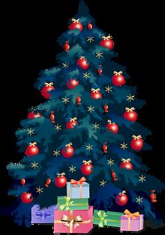 Christmas Tree, Presents, Christmas