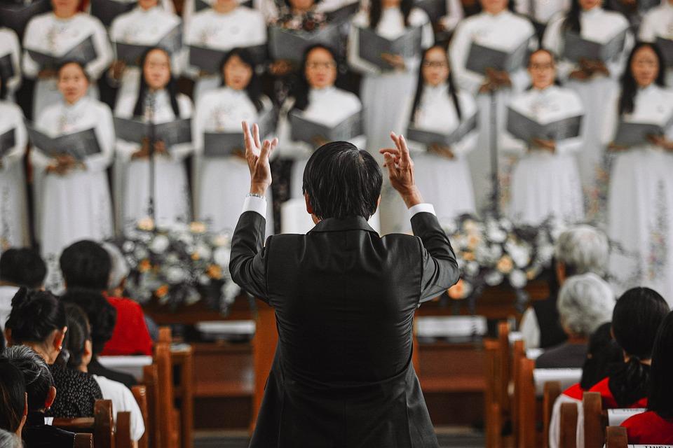 合唱団, 合唱マスター, 教会, 指揮者, コラール, 教会の聖歌隊, 音楽, 教会音楽, 聖なる音楽, 会衆