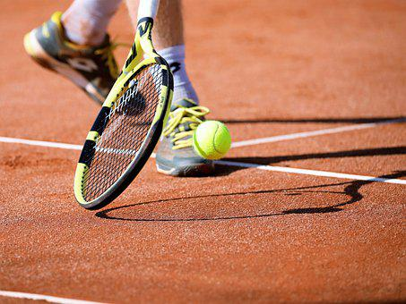 Tennis, Spielen, Tennisplatz, Kugel